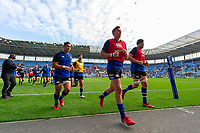 Darren Atkins and the rest of the Bath Rugby team leave the field after the pre-match warm-up. Heineken Champions Cup match, between Wasps and Bath Rugby on October 20, 2018 at the Ricoh Arena in Coventry, England. Photo by: Patrick Khachfe / Onside Images