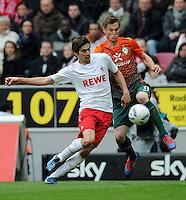 FUSSBALL   1. BUNDESLIGA   SAISON 2011/2012   29. SPIELTAG 1. FC Koeln - SV Werder Bremen                           07.04.2012 Markus Rosenberg (re, SV Werder Bremen) gegen Henrique Sereno (li, 1. FC Koeln)