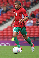 Men's Olympic Football match Honduras v Morocco on 26.7.12...Zakaria Labyad of Morocco, during the Honduras v Morocco Men's Olympic Football match at Hampden Park, Glasgow...........