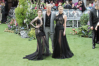 LONDON - MAY 14: Kristen Stewart; Chris Hemsworth; Charlize Theron attend the World Film Premiere of 'Snow White And The Huntsman' at the Empire Cinema, Leicester Square, London, UK. May 14, 2012. (Photo by Richard Goldschmidt)