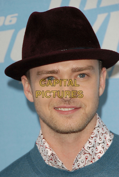 JUSTIN TIMBERLAND.2006 MTV Movie Awards - Arrivals,.held at The Sony Picture Studios in Culver City, Los Angeles, California, USA, June 3rd 2006..portrait headshot brown hat.Ref: DVS.www.capitalpictures.com.sales@capitalpictures.com.©Debbie VanStory/Capital Pictures
