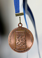 02 NOV 2003 - ATHENS, GREECE - Finishers medal - 21st Athens Classic Marathon. (PHOTO (C) NIGEL FARROW)