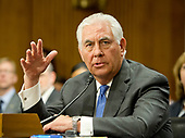 "United States Secretary of State Rex Tillerson, gives testimony before the US Senate Committee on Foreign Relations to ""Review of the FY 2018 State Department Budget Request"" on Capitol Hill in Washington, DC on Tuesday, June 13, 2017.<br /> Credit: Ron Sachs / CNP"