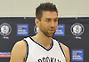 Brooklyn Nets No.9 Andrea Bargnani speaks during Media Day held at the team's practice center in East Rutherford, New Jersey on Monday, September 28, 2015.<br /> <br /> James Escher