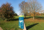 Sign for Silk Wood, National arboretum, Westonbirt arboretum, Gloucestershire, England, UK