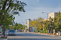 North Chicago Street, Joliet, Illinois on a late summer day