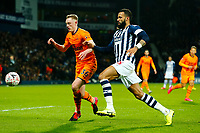 3rd March 2020; The Hawthorns, West Bromwich, West Midlands, England; English FA Cup Football, West Bromwich Albion versus Newcastle United; Sean Longstaff of Newcastle United holds off Kyle Bartley of West Bromwich Albion