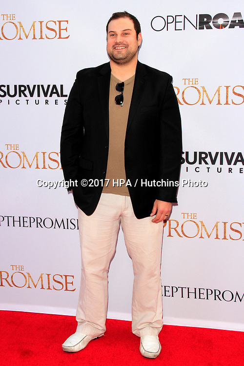 """LOS ANGELES - APR 12:  Max Adler at the """"The Promise"""" Premiere at the TCL Chinese Theater IMAX on April 12, 2017 in Los Angeles, CA"""
