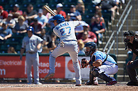 Willy Adames (27) of the Durham Bulls at bat against the Lehigh Valley Iron Pigs at Coca-Cola Park on July 30, 2017 in Allentown, Pennsylvania.  The Bulls defeated the IronPigs 8-2.  (Brian Westerholt/Four Seam Images)