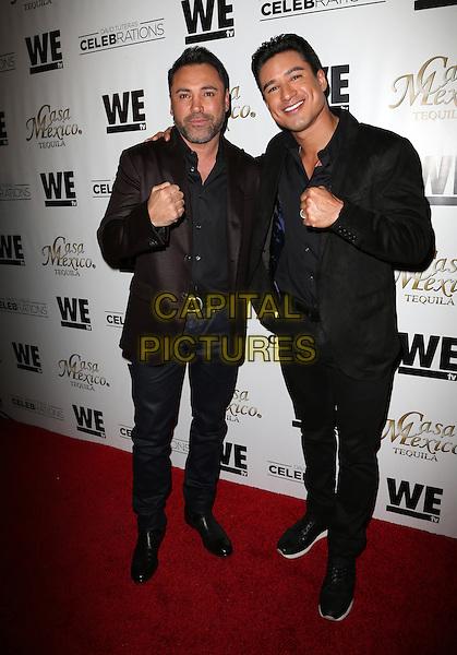 Hollywood, CA - November 06 Mario Lopez, Oscar De La Hoya Attending Mario Lopez Introduces Casa Mexico Tequila On WE tv's David Tutera CELEBrations At Beso On November 06, 2015. <br /> CAP/MPI/FS<br /> &copy;FS/MPI/Capital Pictures