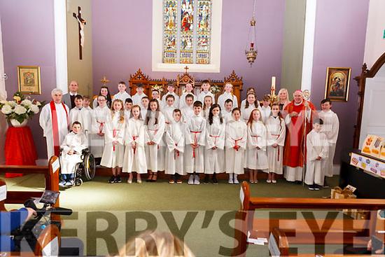 Mountcollins/Tournafulla children pictured with Bishop Brendan Leahy, Fr. Denis Mullane & teachers Brendan Dalton & Johanna Shine Held on Tuesday in St. Patrick's Church Tournafulla.