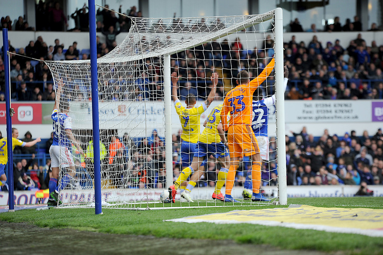 Leeds United's Stuart Dallas celebrates scoring his side's second goal <br /> <br /> Photographer Hannah Fountain/CameraSport<br /> <br /> The EFL Sky Bet Championship - Ipswich Town v Leeds United - Sunday 5th May 2019 - Portman Road - Ipswich<br /> <br /> World Copyright © 2019 CameraSport. All rights reserved. 43 Linden Ave. Countesthorpe. Leicester. England. LE8 5PG - Tel: +44 (0) 116 277 4147 - admin@camerasport.com - www.camerasport.com