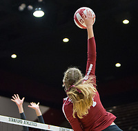 STANFORD, CA - November 3, 2018: Meghan McClure at Maples Pavilion. No. 1 Stanford Cardinal defeated No. 15 Colorado Buffaloes 3-2.