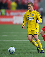 02 May 2009: Columbus Crew midfieder/forward Robbie Rogers #19 in action at BMO Field in a game between the Columbus Crew and Toronto FC. .The game ended in a 1-1 draw...