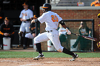 Tennessee Volunteers right fielder Christin Stewart #20 swings at a pitch during a game against  the Arizona State Sun Devils at Lindsey Nelson Stadium on February 23, 2013 in Knoxville, Tennessee. The Volunteers won 11-2.(Tony Farlow/Four Seam Images).