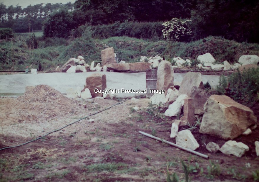 22/04/16<br /> <br /> Collect photo showing field in 1980 with stones delivered to start construction of today's garden.<br /> <br /> Japanese garden, near Newark, Nottinghamshire.<br /> <br /> Full story here:<br /> <br /> http://www.fstoppress.com/articles/japanese-gardens-in-the-heart-of-england/<br /> <br /> .Rights Reserved: F Stop Press Ltd. +44(0)1335 418365   www.fstoppress.com.