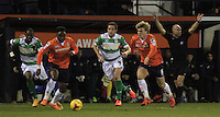 Cameron McGeehan of Luton Town charges forward during the Sky Bet League 2 match between Luton Town and Yeovil Town at Kenilworth Road, Luton, England on 2 February 2016. Photo by Liam Smith.