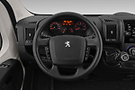 Car pictures of steering wheel view of a 2019 Peugeot Boxer PRO-SR 4 Door Chassis Cab Steering Wheel