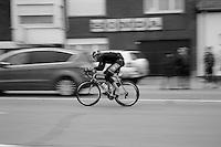 Bradley Potgieter (ZAF/MTN Qhubeka) trying to escape from the peloton<br /> <br /> Dwars Door Vlaanderen 2014