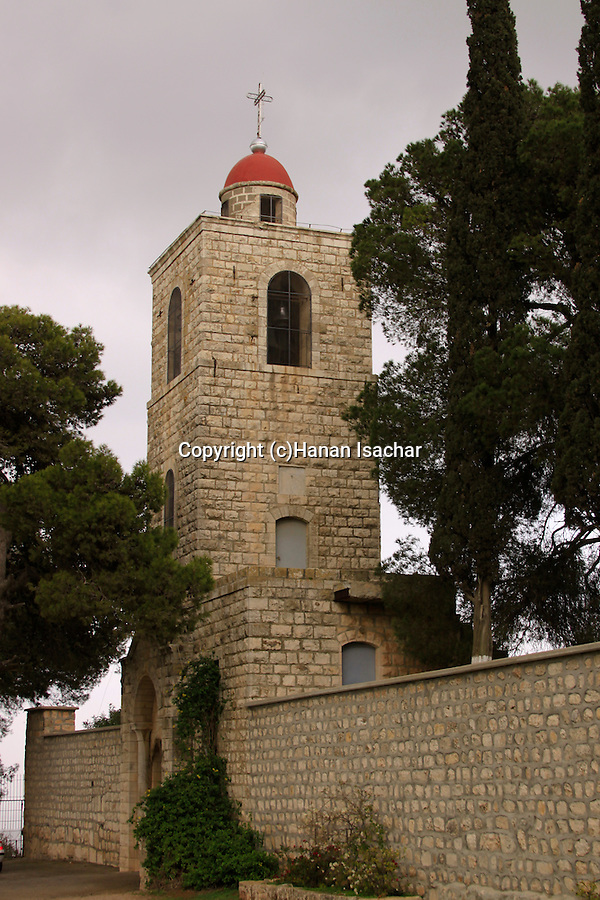 Israel, Jezreel valley, the Greek Orthodox monastery St. Elias, named after Elijah the prophet on Mount Tabor