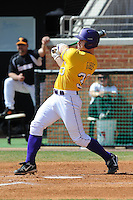 Micah Gibbs #33 of the LSU Tigers at Lindsey Nelson Stadium in game against Tennessee Volunteers in Knoxville, TN March 27, 2010 (Photo by Tony Farlow/Four Seam Images)