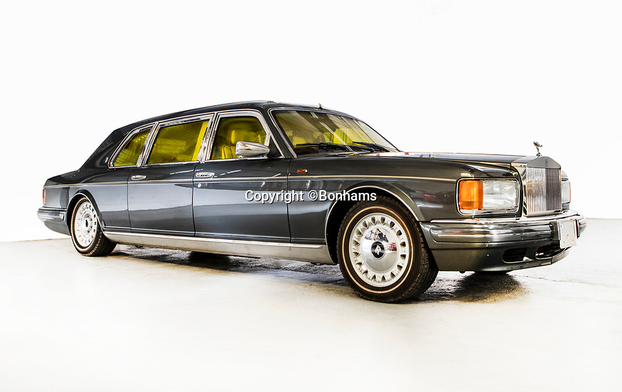 BNPS.co.uk (01202 558833)<br /> Pic: Bonhams/BNPS<br /> <br /> Sold for £70,000 - Rolls Royce Silver Spur armoured car.<br /> <br /> Super-rare Lambo leads incredible sell off an African vice presidents seized car collection.<br /> <br /> The State of Geneva impounded the 24 motors over a financial irregularity court case in 2016 and Bonhams sold off the sparkling collection for a whopping £20 million this weekend.<br /> <br /> An ultra-rare Lamborghini supercar has sold at auction for a world-record price of £6,760,000.<br /> <br /> The Veneno Roadster was one of only nine examples to be built in 2014 and was owned from new by the vice president of Equatorial Guinea.<br /> <br /> Teodorin Obiang Nguema kept the motor for two years before it was seized by Swiss authorities as part of a financial wrongdoing case.
