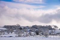 Fair Oak farm in snow, Whitewell Lancashire.