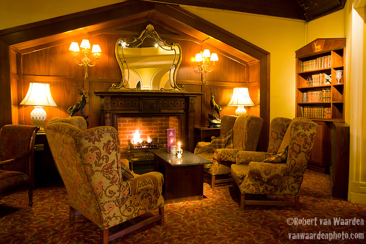 Fireplace at the Culloden Spa and Resort, 5 star hotel in Belfast
