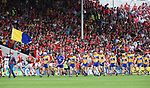 The teams parade  before their Munster  hurling final at Thurles. Photograph by John Kelly.