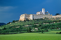 The Basilica of St. Francis of Assisi, in medieval hilltop town of Assisi, Umbria, Italy, AGPix_0100.