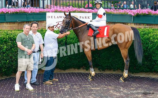 Blame Jim winning at Delaware Park on 7/4/16