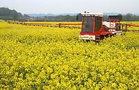 Spraying Oilseed Rape.