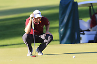 Justin Rose (ENG) on the 16th green during Friday's Round 2 of the 2018 Turkish Airlines Open hosted by Regnum Carya Golf &amp; Spa Resort, Antalya, Turkey. 2nd November 2018.<br /> Picture: Eoin Clarke | Golffile<br /> <br /> <br /> All photos usage must carry mandatory copyright credit (&copy; Golffile | Eoin Clarke)