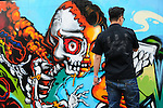 Kaohsiung, MegaPort Music Festival -- Graffiti art.