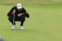 Matthew Southgate (ENG) on the 17th green during Round 4 of the Alfred Dunhill Links Championship 2019 at St. Andrews Golf CLub, Fife, Scotland. 29/09/2019.<br /> Picture Thos Caffrey / Golffile.ie<br /> <br /> All photo usage must carry mandatory copyright credit (© Golffile | Thos Caffrey)