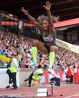 Caterine Ibarguen of Columbia competing in the long jump during the Muller Grand Prix  IAAF Diamond League meeting at Alexander Stadium, Perry Barr, Birmingham.<br /> Picture by Alan Stanford +44 7915 056117<br /> 18/08/2018