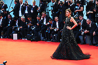 Eleonora Carisi poses on the red carpet to present the movie 'Spotlight' during the 72nd Venice Film Festival at the Palazzo Del Cinema, in Venice, September 3, 2015. <br /> UPDATE IMAGES PRESS/Stephen Richie