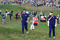 Rory McIlroy (Team Europe) on the 3rd during the Friday Foursomes at the Ryder Cup, Le Golf National, Ile-de-France, France. 28/09/2018.<br /> Picture Thos Caffrey / Golffile.ie<br /> <br /> All photo usage must carry mandatory copyright credit (&copy; Golffile | Thos Caffrey)