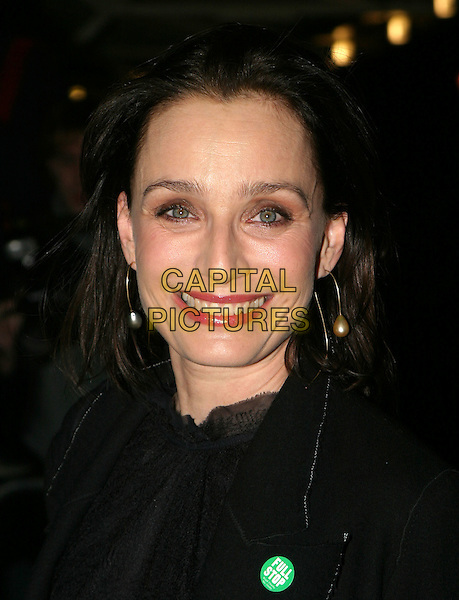 KRISTIN SCOTT THOMAS.Cirque Du Soleil charity performance at the Royal Albert Hall and aftershow dinner at the V&A Museum.5 February 2004.headshot, portrait.www.capitalpictures.com.sales@capitalpictures.com.© Capital Pictures.