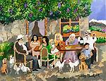 """Napa Early Days""<br /> 11x14 Acrylic on Canvas<br /> $6,500"