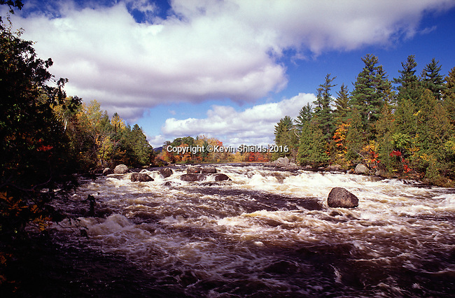 East Branch of the Penobscot River at Haskell Rock Pitch, Katahdin Woods and Waters National Monument, Penobscot County, Maine, USA.
