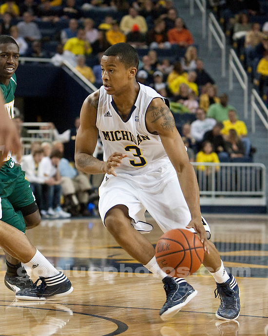 The University of Michigan men's basketball team beat Wayne State University, 47-39, in exhibition at Crisler Arena in Ann Arbor, Mich.,  on November, 4 2011.