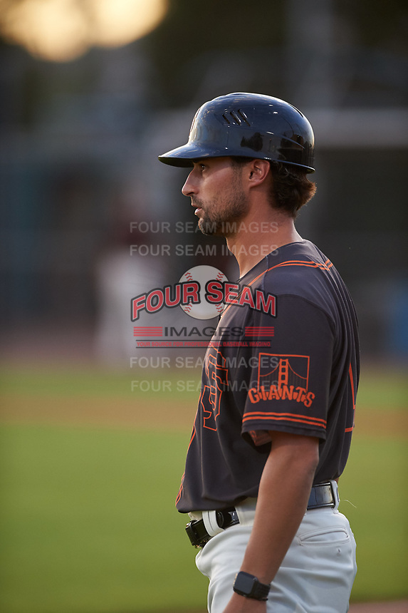 AZL Giants Black manager Michael Johnson (1) during an Arizona League game against the AZL Giants Orange on July 19, 2019 at the Giants Baseball Complex in Scottsdale, Arizona. The AZL Giants Black defeated the AZL Giants Orange 8-5. (Zachary Lucy/Four Seam Images)