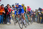 Philippe Gilbert (BEL) Deceuninck-Quick Step, Wout Van Aert (BEL) Jumbo-Visma, Peter Sagan (SVK) Bora-Hansgrohe and Sep Vanmarcke (BEL) EF Education First in action during the 117th edition of Paris-Roubaix 2019, running 257km from Compiegne to Roubaix, France. 14th April 2019<br /> Picture: Thomas van Bracht/PelotonPhotos.com | Cyclefile<br /> All photos usage must carry mandatory copyright credit (&copy; Cyclefile | Thomas van Bracht/PelotonPhotos.com)