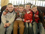 Andrew Corr, Daryle Eyres, Dillon McKenna and John Everitt pictured at the Rainbow Club kids christmas party ant Funtasia. Photo:Colin Bell/pressphotos.ie