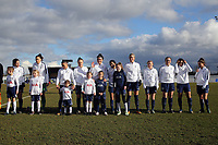 Spurs ladies before Tottenham Hotspur Ladies vs Oxford United Women, FA Women's Super League FA WSL2 Football at Theobalds Lane on 11th February 2018