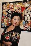 One Life To Live's Kristen Alderson wears many different Hats for Health designed by Jane Elissa which promotes awareness and raises money for Leukemia/Lymphoma and Cancer research & patient aid and other charities. Photos were taken at Jadite Gallery, New York City, New York - August 2009. (Photo by Sue Coflin/Max Photos)