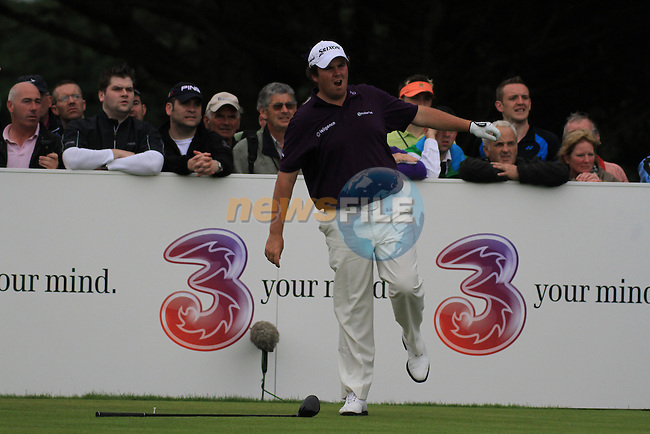 Shane Lowry drops his driver after sending his ball way out to the left   during day two of the 3 Irish Open, at the Killarney Golf and Fishing Club, Killarney, Ireland.Picture Fran Caffrey/www.golffile.ie.