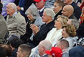 Former United States President Bill Clinton applauds as Donald J. Trump delivers his Inaugural Address after being sworn-in as the 45th President of the United States on the West Front of the US Capitol on Friday, January 20, 2017.  Looking on are former US President Jimmy Carter, Rosalyn Carter, former Secretary of State Hillary Rodham Clinton, and former first lady Laura Bush.<br /> Credit: Ron Sachs / CNP<br /> (RESTRICTION: NO New York or New Jersey Newspapers or newspapers within a 75 mile radius of New York City)