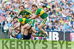 Paul Geaney, Colm Cooper and Donnchadh Walsh Kerry in action against James McCarthy Dublin in the All Ireland Senior Football Semi Final at Croke Park on Sunday.